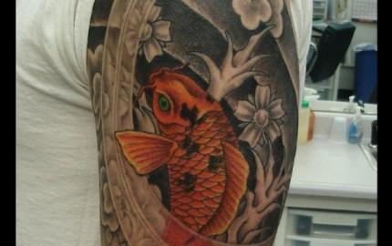 Jun matsui tattoo for Carpes kois